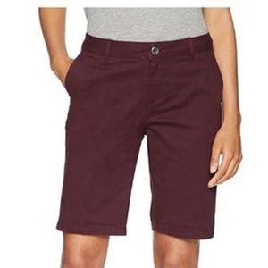 """AMAZON Essentials 10"""" Burgundy 4-Pocket Athleisure Golf Cotton Blend NWT 12"""